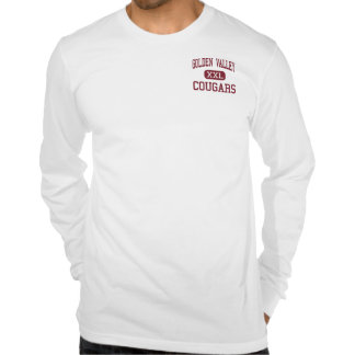 Golden Valley - Cougars - High - Merced California T Shirts