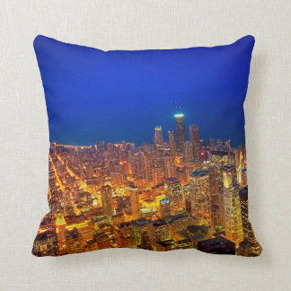 Golden Valleys of Chicago - Dusk From Above Throw Pillow