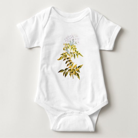 Golden Variegated Jasmine Baby Bodysuit