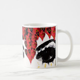 Golden Veil Eyes Cup Classic White Coffee Mug