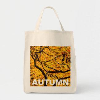 Golden Veins Of Autumn Tote Bag
