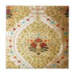 Golden Venetian damask Ceramic Tile