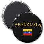 Golden Venezuela Magnet