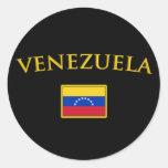 Golden Venezuela Stickers