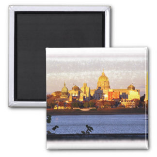 Golden View of Harrisburg, Pa Magnet