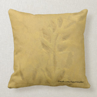 Golden Vine Faux Finish Pattern Throw Pillows