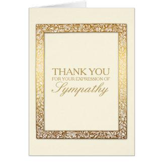 Golden Vintage Frame Sympathy Thank You Card