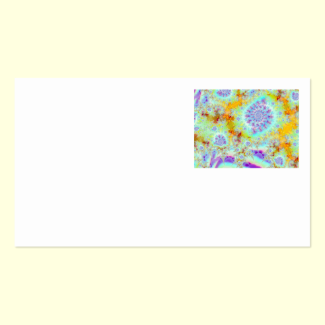 Golden Violet Sea Shells, Abstract Fractal Ocean Double-Sided Standard Business Cards (Pack Of 100)