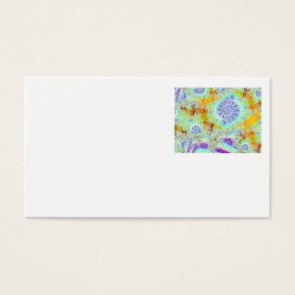 Golden Violet Sea Shells, Abstract Fractal Ocean Business Card