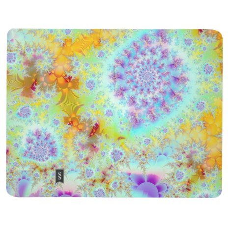Golden Violet Sea Shells, Abstract Fractal Ocean Journal