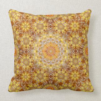 Golden Visions Mandala Throw Pillow