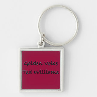 Golden Voice Ted Williams Keychain