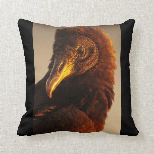 Golden Vulture Throw Pillows