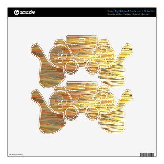 GOLDEN WAKE MANDELBULB 3D. FRACTAL IMG PS3 CONTROLLER SKINS