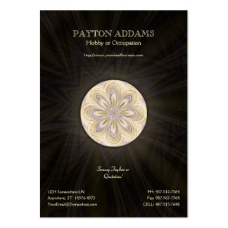 Golden Waning Mandala - Vertical Business Card