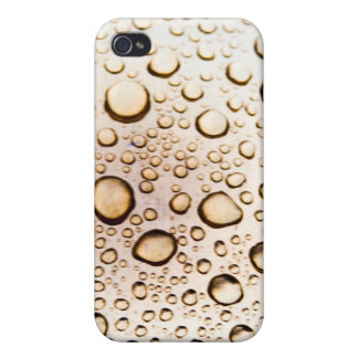Golden water drops covers for iPhone 4