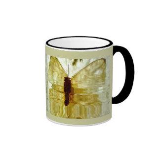 Golden Watercolor Butterfly Mug