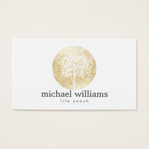 Life coach business cards templates zazzle golden watercolor tree life coach counselors business card colourmoves