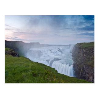 Golden Waterfall #2 Postcards
