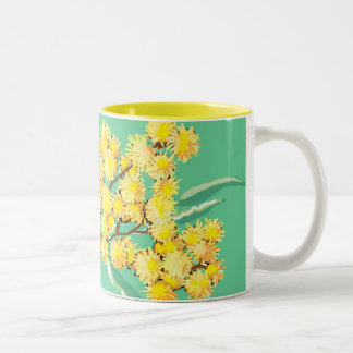Golden wattle - symbol of Australia Two-Tone Coffee Mug