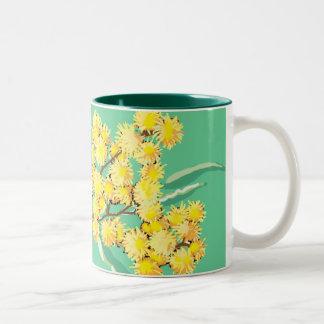 Golden wattle symbol of Australia Two-Tone Coffee Mug