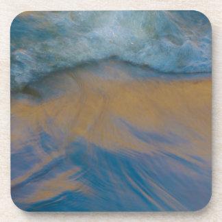 Golden Wave Drink Coaster