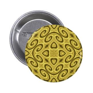 Golden Waves Big Pinback Button