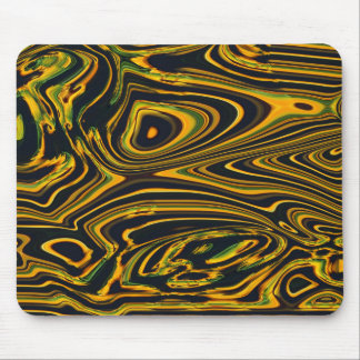 Golden Waves Mouse Pad