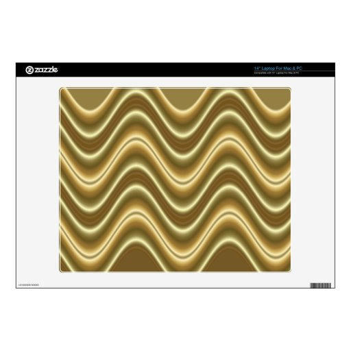golden waves pattern laptop decal