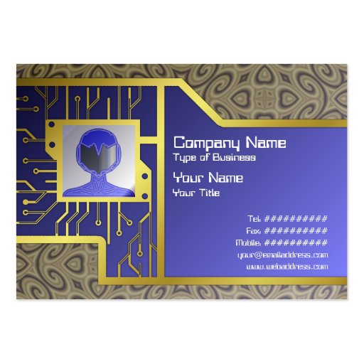 Golden Waves Small Large Business Cards (Pack Of 100)