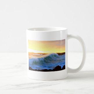 Golden waves sunset coast Galapagos Islands Coffee Mug