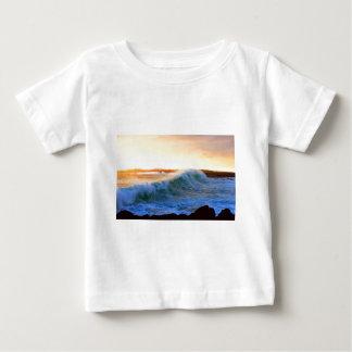Golden waves sunset coast Galapagos Islands Shirts