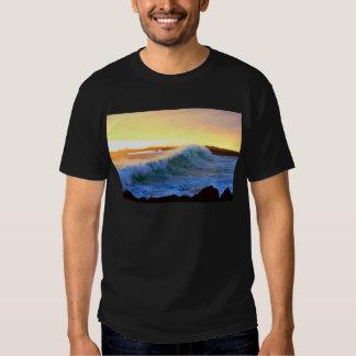 Golden waves sunset coast Galapagos Islands Tee Shirt