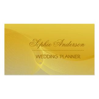Golden wavy business card