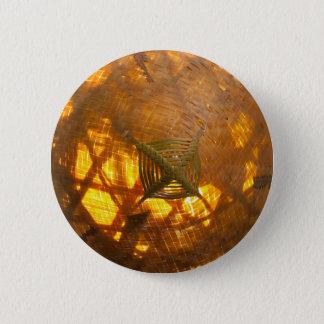 Golden Weave Pinback Button