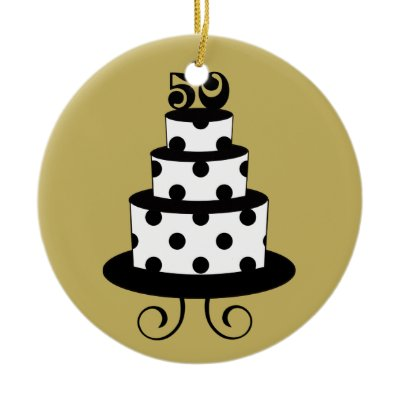Golden Wedding 50th Anniversary Keepsake Christmas Tree Ornament by