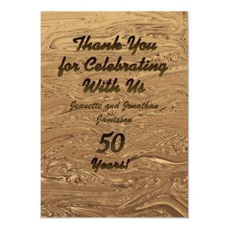 Golden Wedding 50th Anniversary Thank You Custom Card