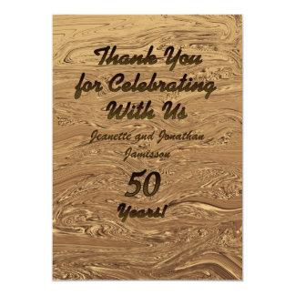 Golden Wedding 50th Anniversary Thank You Custom Invitation