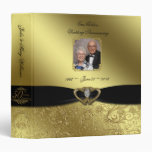 """Golden Wedding Anniversary 1.5"""" Photo Binder"""