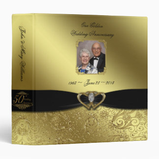 "Golden Wedding Anniversary 1.5"" Photo Binder"