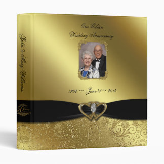 "Golden Wedding Anniversary 1"" Photo Binder"