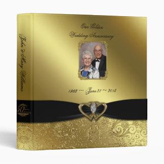 """Golden Wedding Anniversary 1"""" Photo Binder"""
