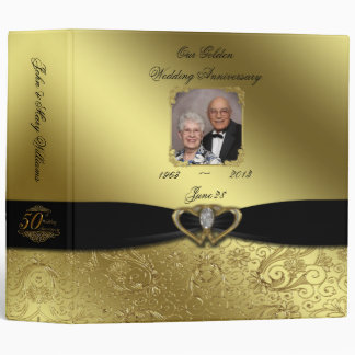 "Golden Wedding Anniversary 2"" Photo Binder"