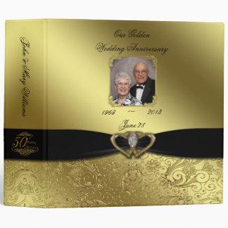 """Golden Wedding Anniversary 2"""" Photo Binder"""