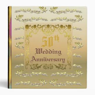 Golden Wedding Anniversary 3 Ring Binder