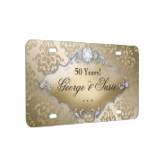 Golden Wedding Anniversary 50th License Plate at Zazzle