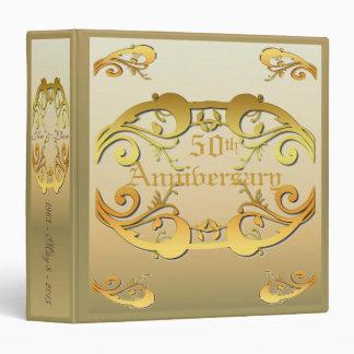 Golden Wedding Anniversary Binder