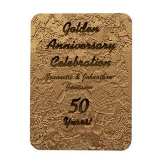 Golden Wedding Anniversary Celebration Magnet 50
