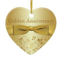 Golden Wedding Anniversary Christmas Ornament