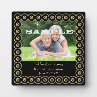 Golden Wedding Anniversary Circle Frame Template